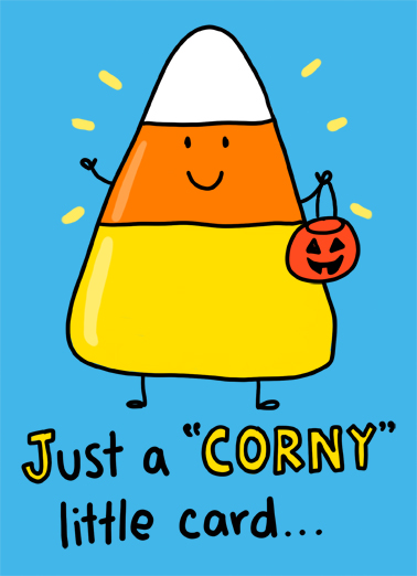 Corny Halloween Card Cover