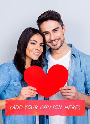 Couple Photo Add Valentine's Day Ecard Cover