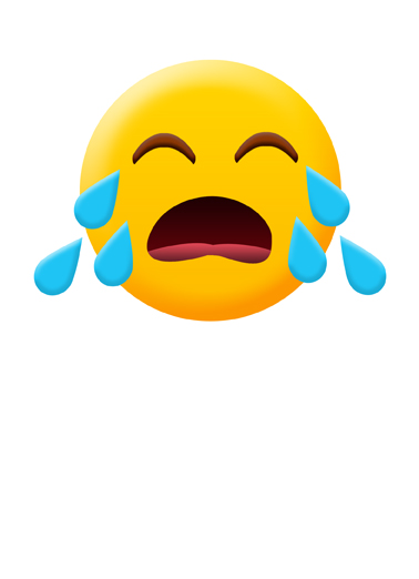 Crying Emoji Miss You Ecard Cover