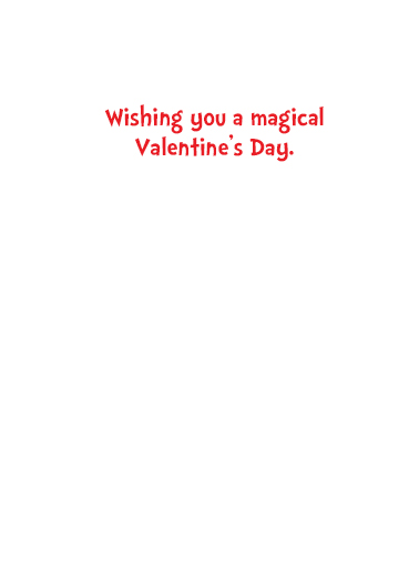 Cupid and Unicorn Valentine's Day Card Inside