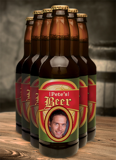 Custom Beer Label Drinking Ecard Cover