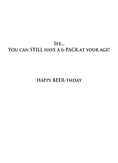 Custom Beer Label Ecard Inside