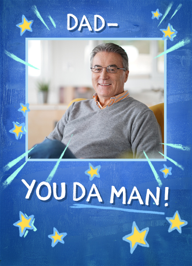 Da Man For Dad Birthday Card Cover