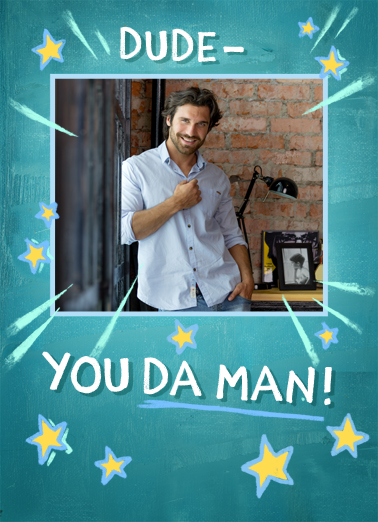 Da Man Birthday Card Cover