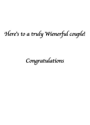 Dachshund Wedding Dachshund Card Inside