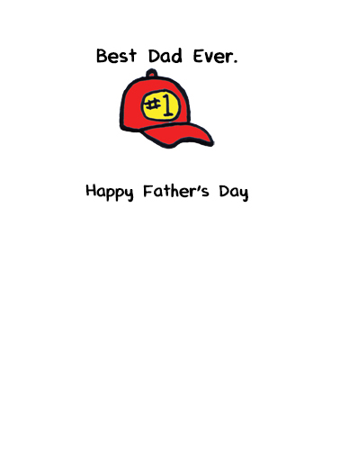 Dad Hats Father's Day Card Inside