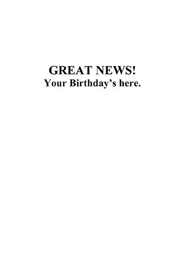 Daily Tribune Guy Birthday Card Inside