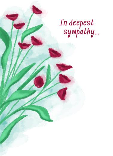 Deepest Sympathy Flowers Sympathy Card Cover