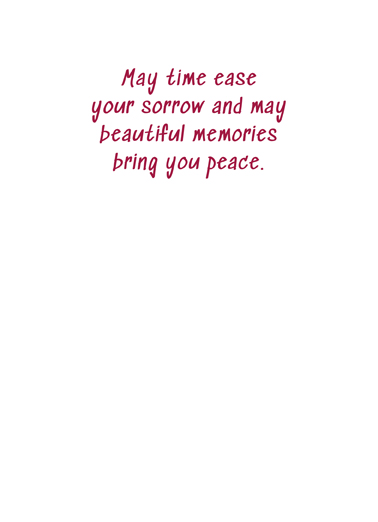 Deepest Sympathy Flowers Sympathy Card Inside
