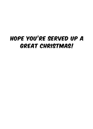 Deer Pong Christmas Ecard Inside