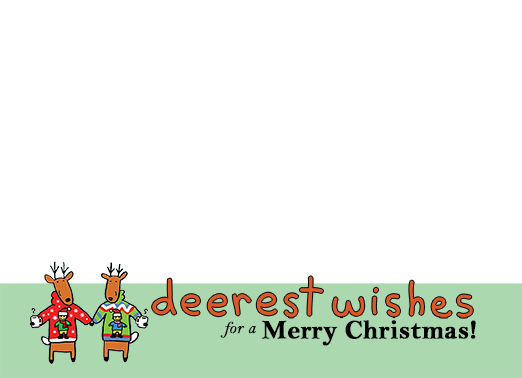 Deerest Wishes Christmas Card Cover