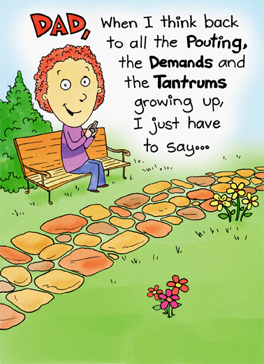 Demands and Tantrums 5x7 greeting Ecard Cover