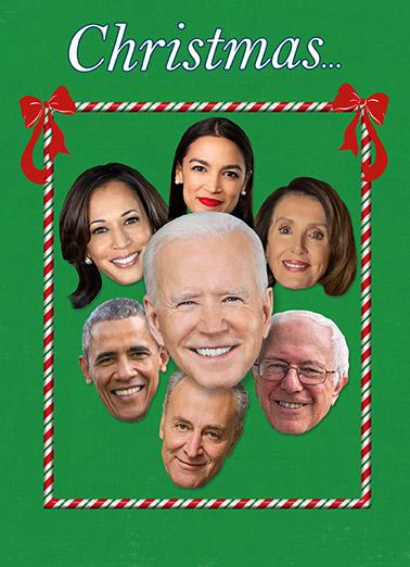Democrat Christmas Christmas Card Cover