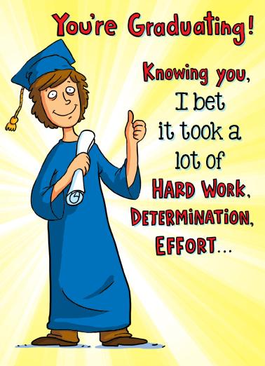 Determination Graduation Ecard Cover