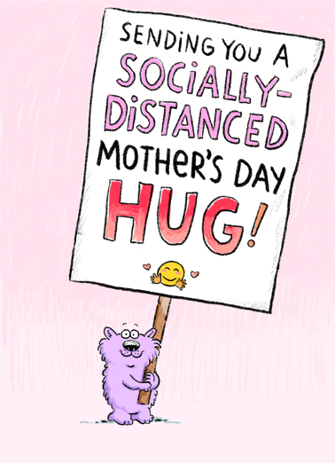 Distanced Hug (MD) Mother's Day Ecard Cover