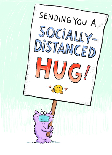 Distanced Hug  Ecard Cover