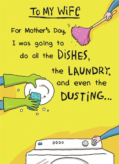 Do the Dishes Mother's Day Ecard Cover