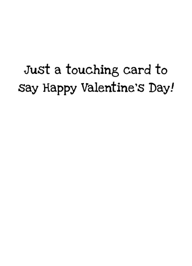 Dog Cone Val Valentine's Day Card Inside