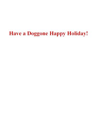 Doggone Christmas Christmas Card Inside