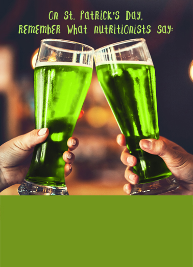 Drink More Green St. Patrick's Day Card Cover