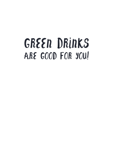 Drink More Green St. Patrick's Day Card Inside
