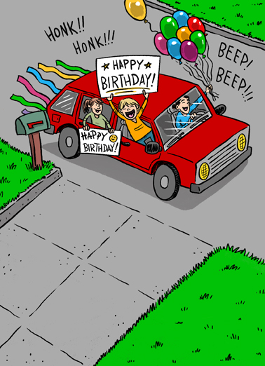 Drive By Birthday Quarantine Card Cover