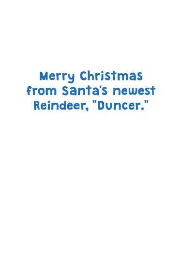 Duncer Biden Christmas Ecard Inside