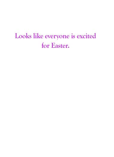 Easter Bernie Eggs Easter Card Inside