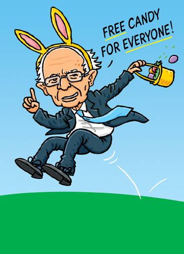 Easter Bernie Easter Ecard Cover