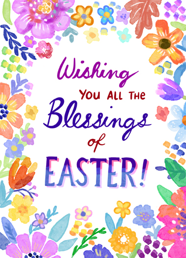 Easter Blessings Easter Card Cover