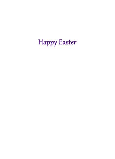 Easter Blessings Easter Card Inside