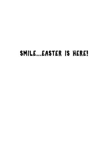 Easter Cat Smile Mask  Card Inside