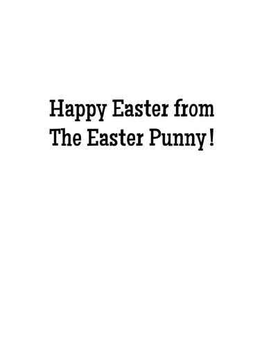 Easter Punny Funny Animals Card Inside