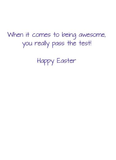Easter Testing Easter Card Inside