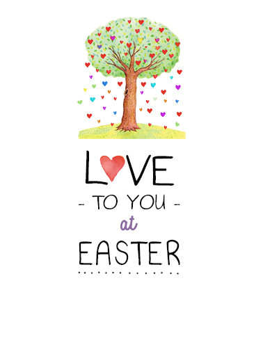 Easter Tree Easter Card Cover