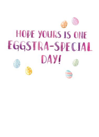 Easter Watercolor Eggs Easter Ecard Inside
