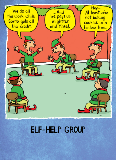 Elf-Help For Her Ecard Cover
