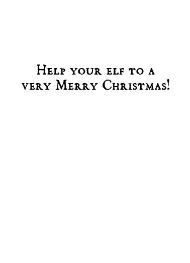 Elf-Help Christmas Ecard Inside