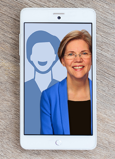 Elizabeth Warren Selfie Funny Political Ecard Cover