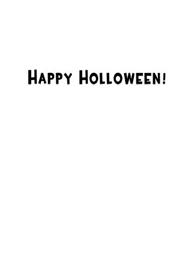 Empty Inside Halloween Card Inside