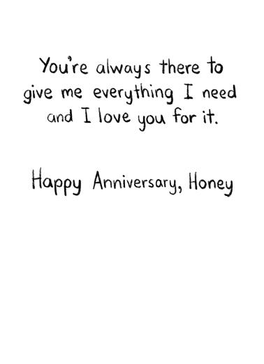 Everything I Need (ANN) Anniversary Card Inside