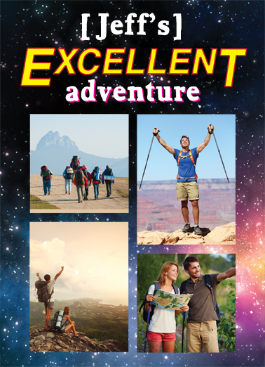Excellent Adventure Birthday Card Cover