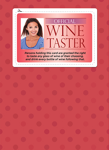 Wine Taster (for any time) Clinking Buddies Ecard Cover