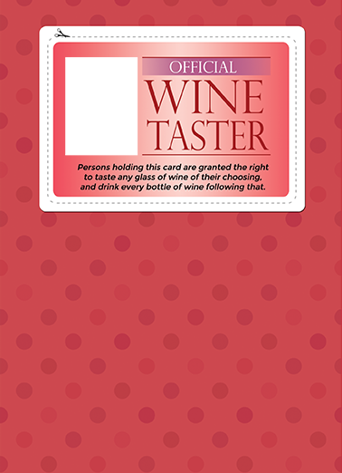 Wine Taster (for any time) Drinking Ecard Cover