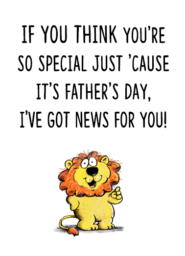FD So Special Father's Day Card Cover