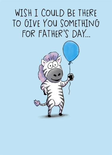 FD Zebra Father's Day Card Cover