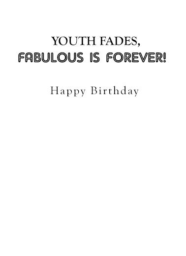 Fabulous Femme Birthday Card Inside