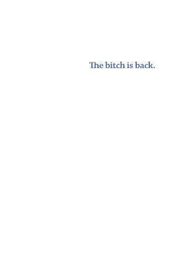 Fairy is Back Birthday Card Inside