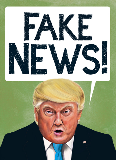 Fake News Birthday Card Cover