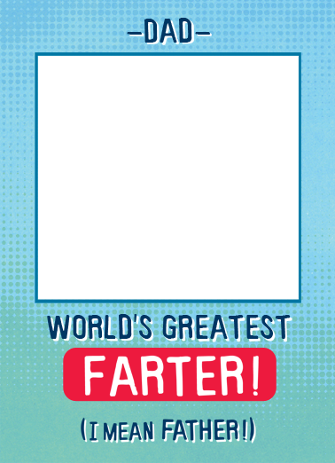 Farter Father's Day Card Cover